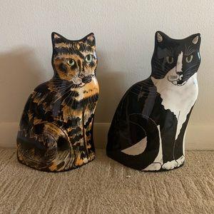 Ceramic cat vases